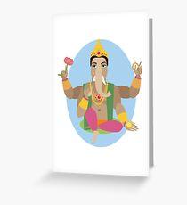 illustration of statue  Lord Ganesha   Greeting Card