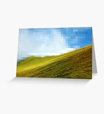 High compression clouds Greeting Card
