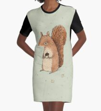 Sarah the Squirrel Graphic T-Shirt Dress
