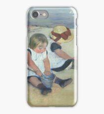 Children Playing on the Beach 1884 Mary Cassatt iPhone Case/Skin