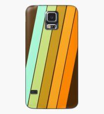Fer Shure - minimal Retro 70er Jahre Stil 70er Jahre Vibes Streifen bunten trendigen Dekor Hülle & Klebefolie für Samsung Galaxy