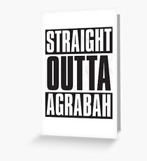Straight Outta Agrabah Greeting Card