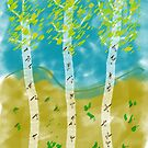 Birch Trees by Thomas Murphy