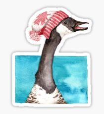 Happy Canada Goose in a Canada Toque Sticker