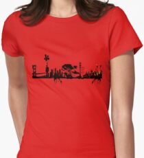 city suicide Womens Fitted T-Shirt
