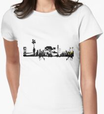 city suicide Women's Fitted T-Shirt
