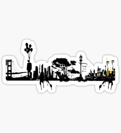 city suicide Sticker