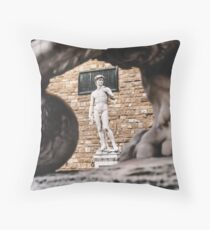 Michelangelo's David Statue in Florence, Italy Throw Pillow