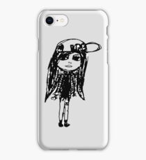Girl with snapback iPhone Case/Skin