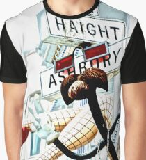 Haight Ashbury in High Key Graphic T-Shirt