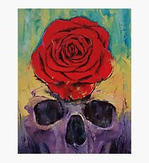 Skull Rose Photographic Print