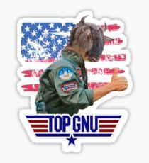 Top Gun - Top Gnu! Sticker