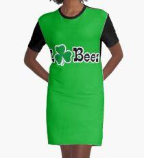 Ich Shamrock Bier T-Shirt Kleid