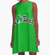 I Shamrock Beer A-Line Dress