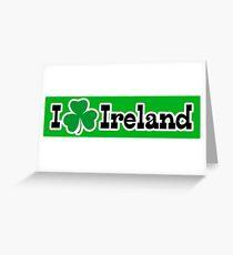 I Shamrock Ireland Greeting Card