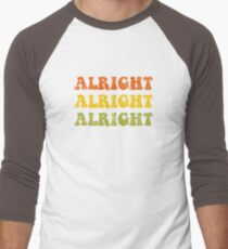 Alright Alright Alright Retro 1970 Design Baseball ¾ Sleeve T-Shirt