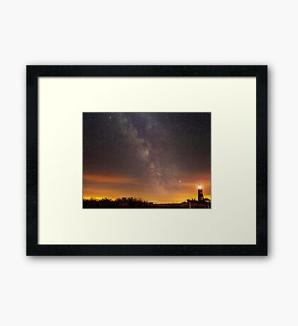 Happisburgh - Milky Way + Lighthouse Framed Print