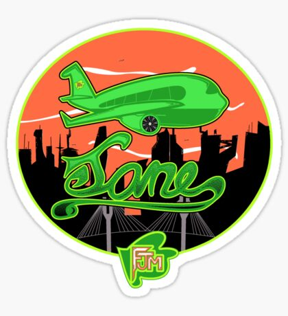 Plane Jane Sticker