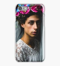 Feminine Boy with Veil and Flowers Crown iPhone Case/Skin