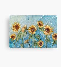 A Summer of Sunflowers  Canvas Print