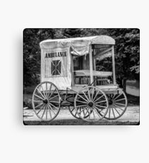 Horse Drawn Ambulance  Canvas Print