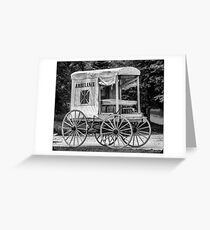 Horse Drawn Ambulance  Greeting Card