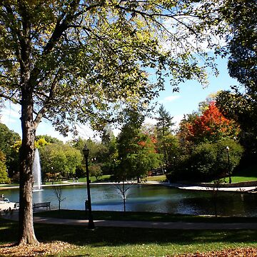 October at Mirror Lake - Ohio State  by rmcbuckeye