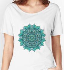 Blue mandala Women's Relaxed Fit T-Shirt