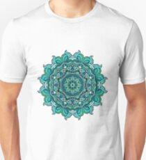 Blauer Mandala Slim Fit T-Shirt