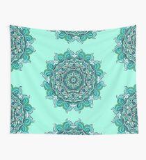 Blauer Mandala Wandbehang