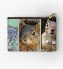 SQUIRRELS: Pine, Red and Ground Studio Pouch