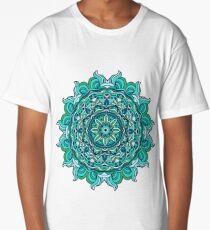 Blue mandala Long T-Shirt