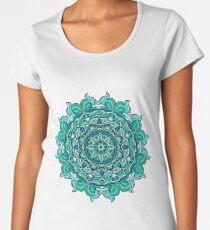 Blue mandala Women's Premium T-Shirt
