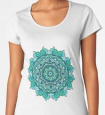 Blauer Mandala Frauen Premium T-Shirts