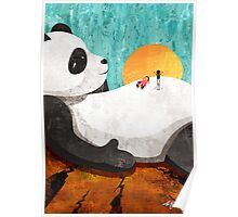 Shock Absorbing Panda Poster