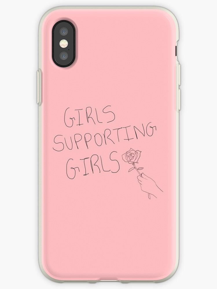 pretty nice dddab 5742e 'Girls Supporting Girls' iPhone Case by malurs