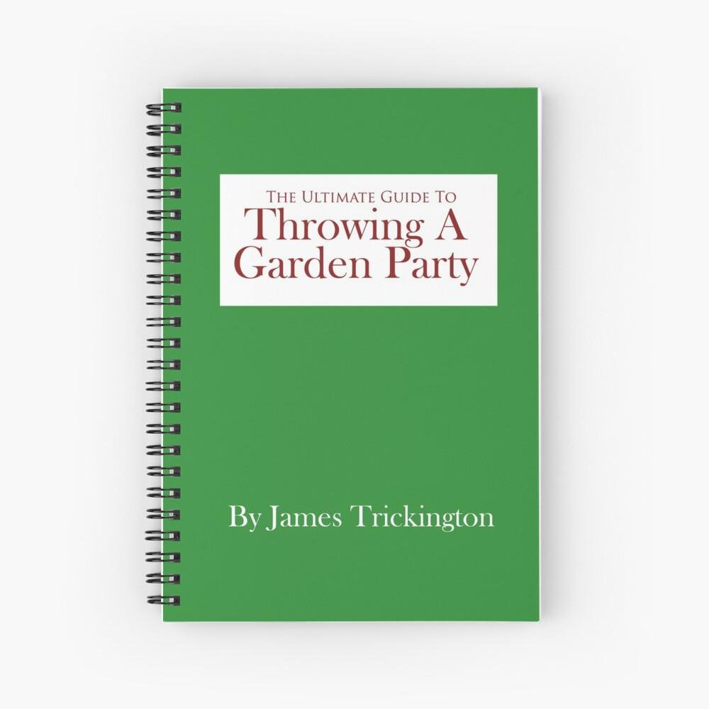 Throwing a Garden Party Spiral Notebook