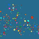 'dear dots', happy colorful drawing of small dots and spirals by mariska eyck