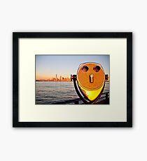 Manhattan from Ellis Island Framed Print