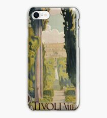 Vintage Italian travel ad Tivoli Lazio Rome iPhone Case/Skin
