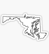 Maryland Home State Outline Sticker