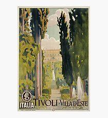 Vintage Italian travel ad Tivoli Lazio Rome Photographic Print