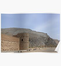 Omani Mountain Fort. Poster