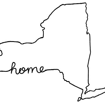 New York Home State Outline by jamiemaher15