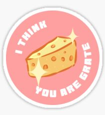 I Think You Are Grate Sticker