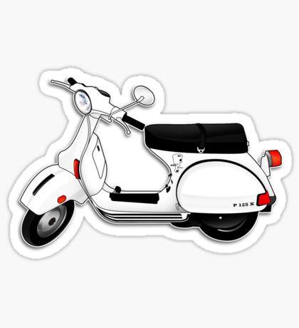Scooter T-shirts Art: P Series Scooter Design Sticker