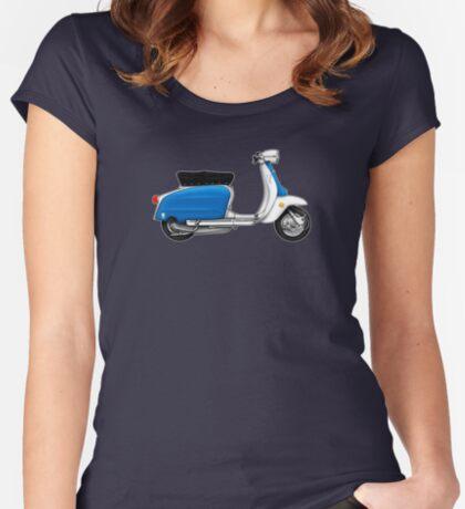 Scooter T-shirts Art: Serveta Li 150 Special, Original Color Design Women's Fitted Scoop T-Shirt