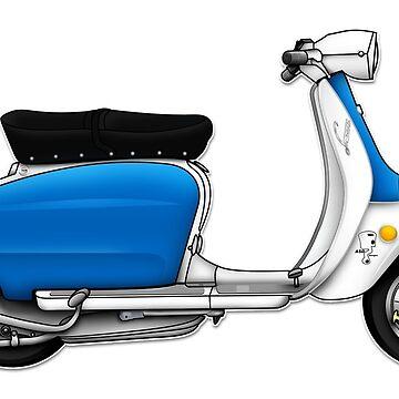 Scooter T-shirts Art: Serveta Li 150 Special, Original Color Design by yj8dsk57