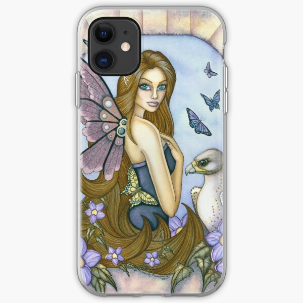 Big Eyed Fairy with Falcon  iPhone Soft Case