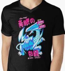 Camiseta para hombre de cuello en v BLUE-EYES WHITE DRAGON (青 眼 白龍 白龍)